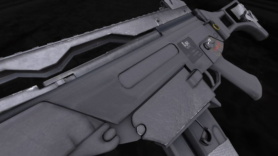 Rifle de asalto G36C royalty-free modelo 3d - Preview no. 2