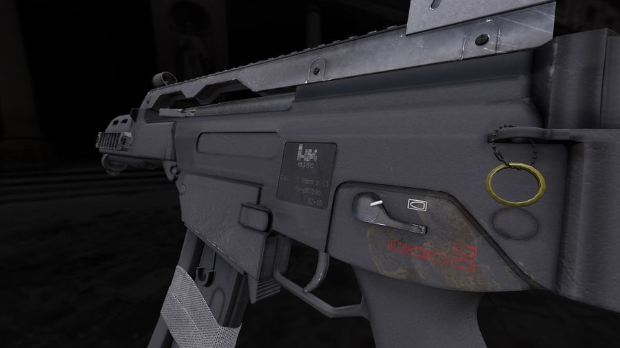 Rifle de asalto G36C royalty-free modelo 3d - Preview no. 4