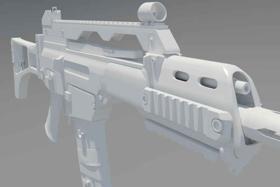 Rifle de asalto G36C royalty-free modelo 3d - Preview no. 6