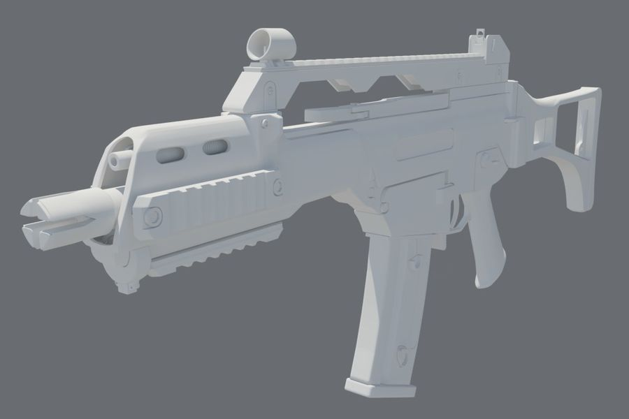 Rifle de asalto G36C royalty-free modelo 3d - Preview no. 5