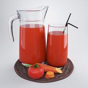 野菜ジュース 3d model
