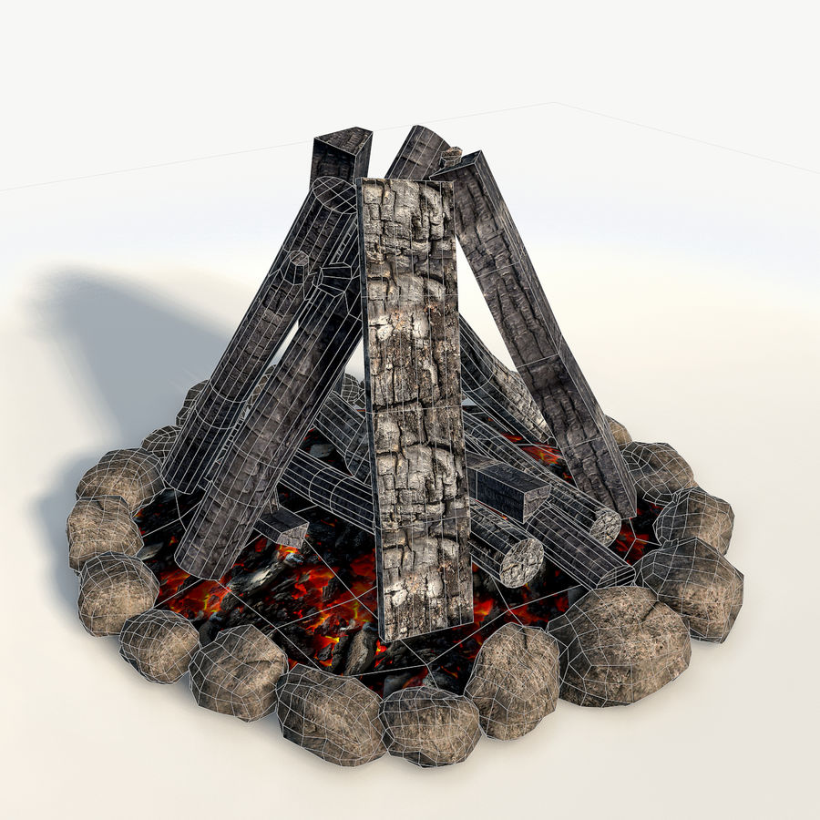 Gra w ognisko jest gotowa royalty-free 3d model - Preview no. 5