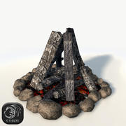 Bonfire-spel redo 3d model