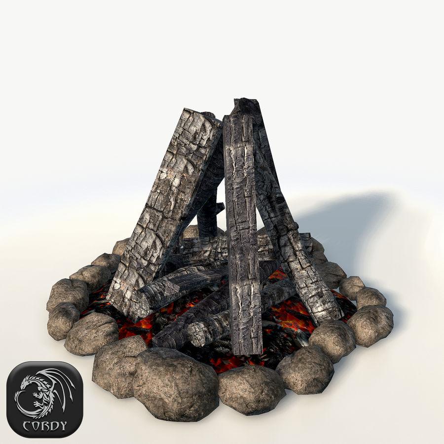 Gra w ognisko jest gotowa royalty-free 3d model - Preview no. 1