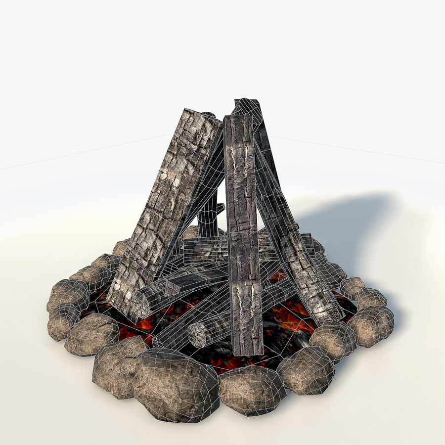 Gra w ognisko jest gotowa royalty-free 3d model - Preview no. 3