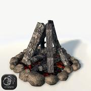 Bonfire game ready 3d model