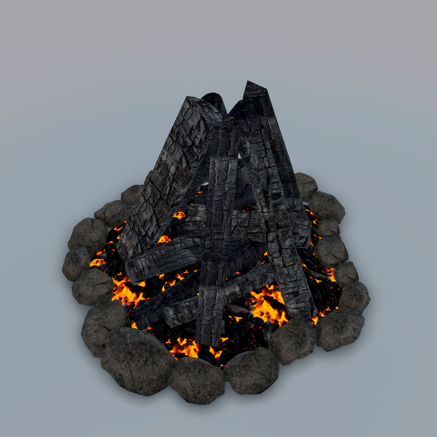 Gra w ognisko jest gotowa royalty-free 3d model - Preview no. 12