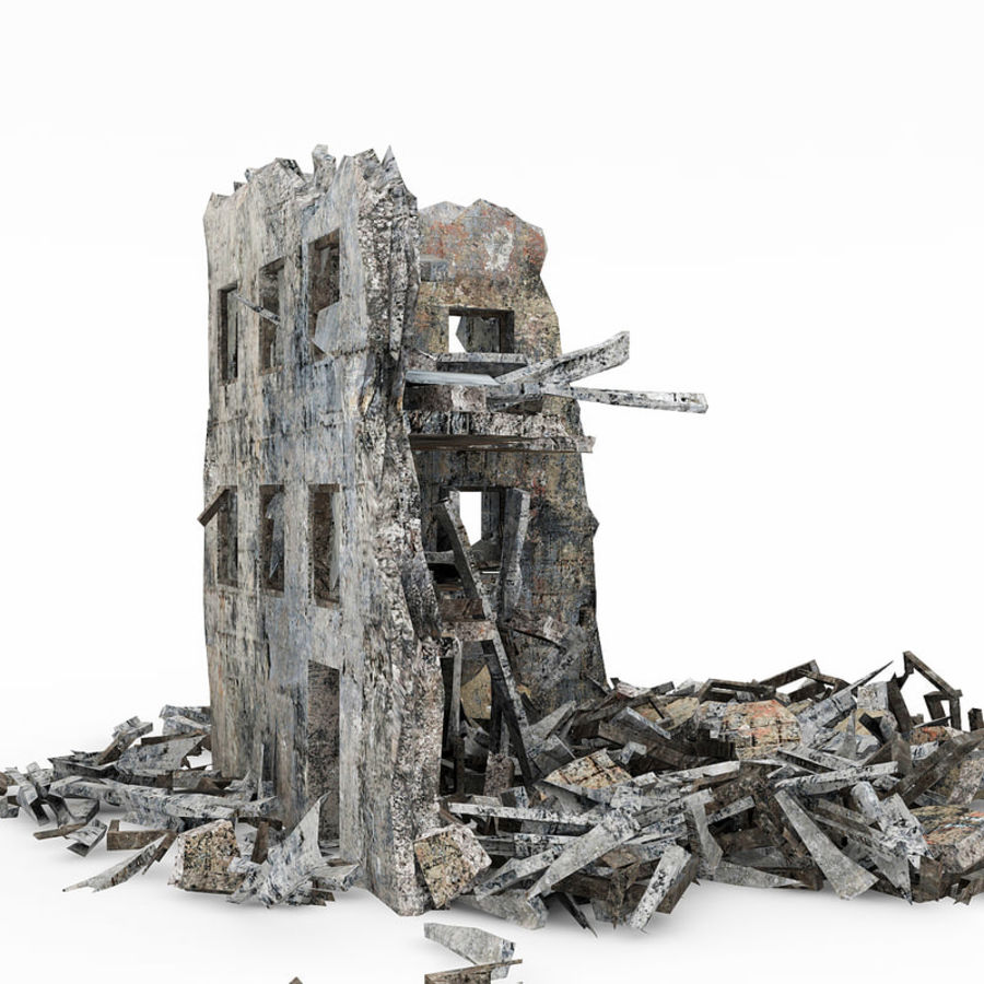 Edificio de ruinas royalty-free modelo 3d - Preview no. 3