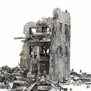 Edificio de ruinas modelo 3d