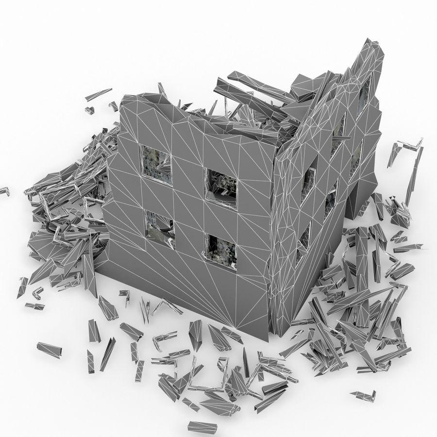 Edificio de ruinas royalty-free modelo 3d - Preview no. 13