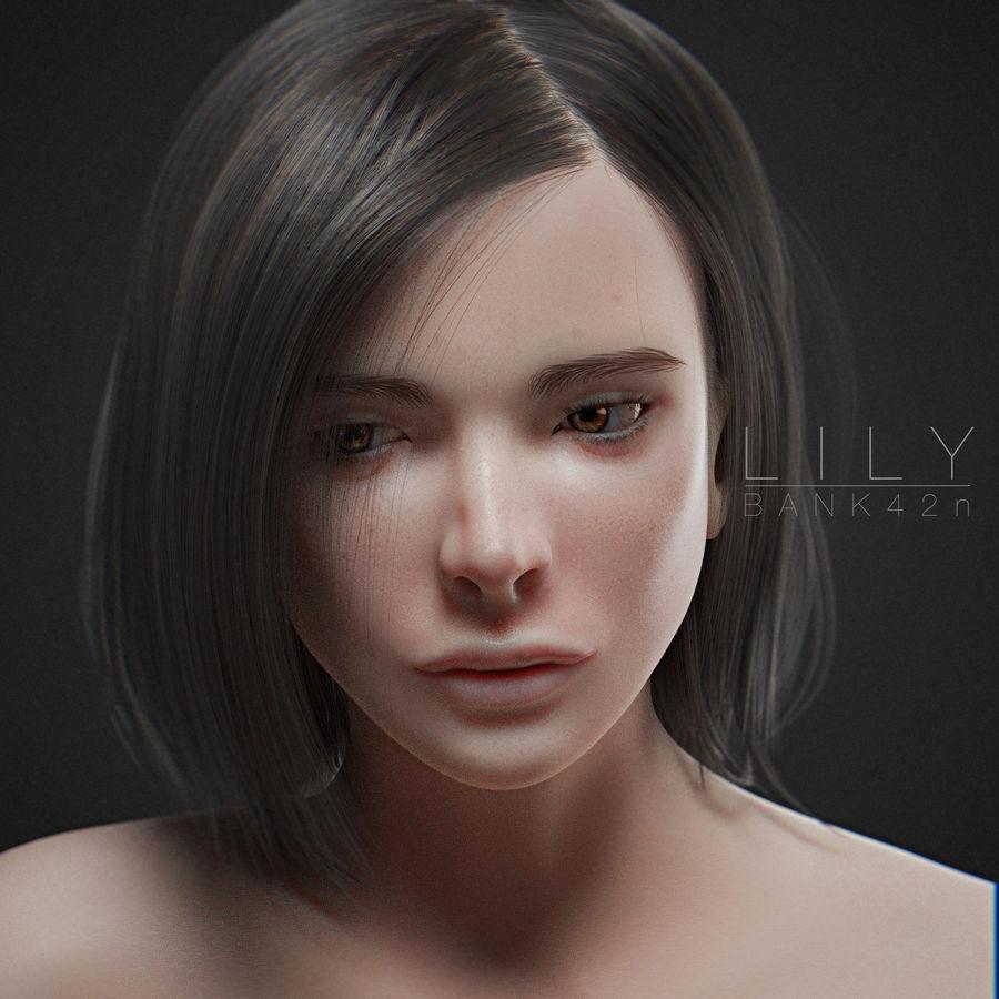 3D Asian Girl 5 day discount !!lily asian girl 3d model $15 - .blend .fbx