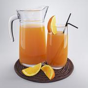 Portakal suyu 3d model