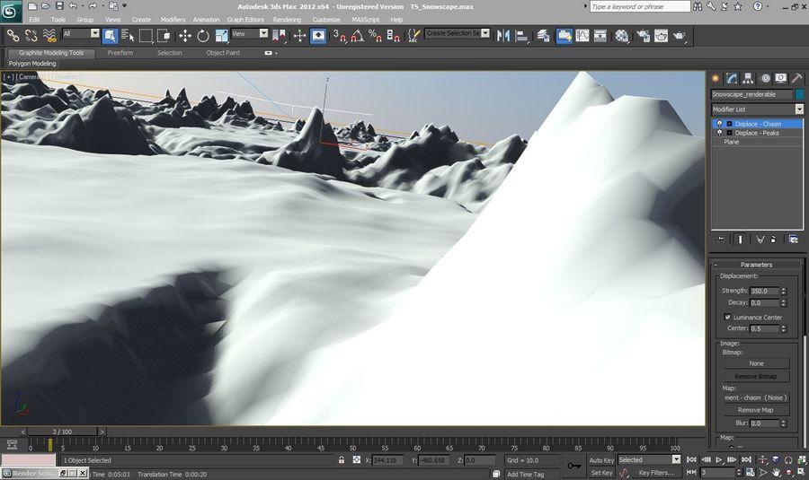 Arctic Snow Landscape royalty-free 3d model - Preview no. 3
