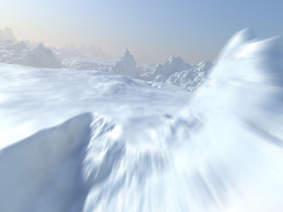 Arctic Snow Landscape royalty-free 3d model - Preview no. 1