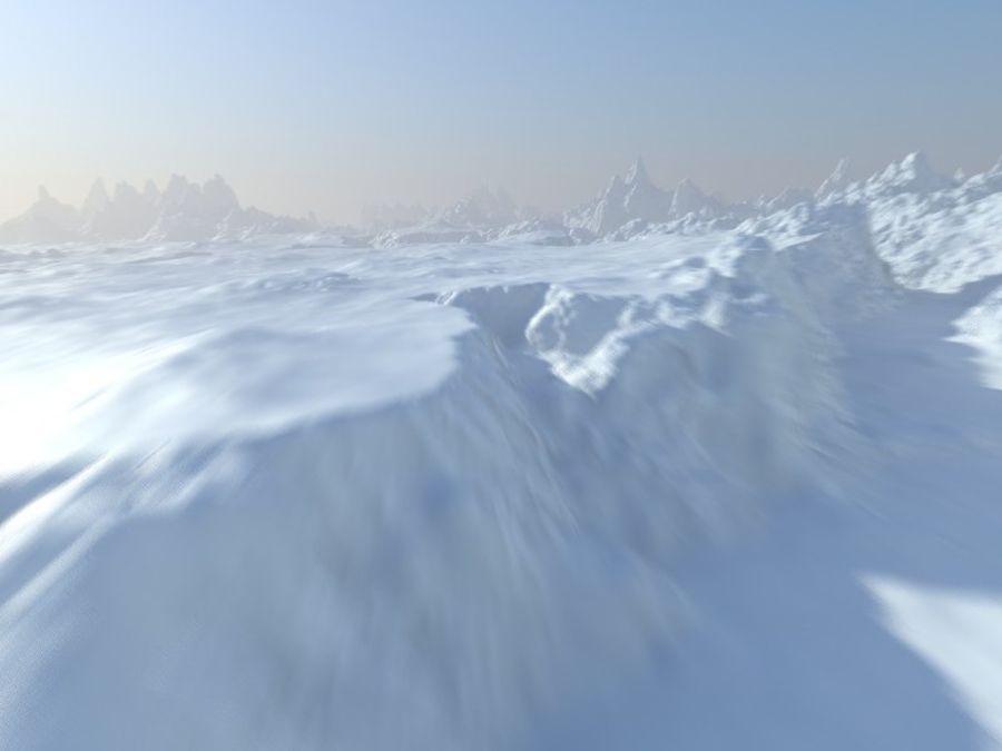 Arctic Snow Landscape royalty-free 3d model - Preview no. 2