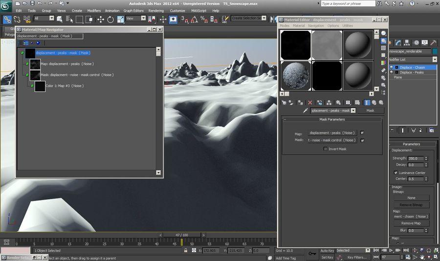 Arctic Snow Landscape royalty-free 3d model - Preview no. 5