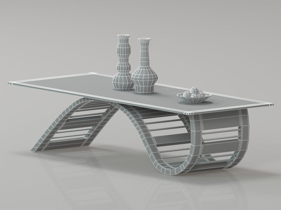Center Table royalty-free 3d model - Preview no. 2