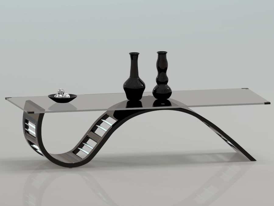 Center Table royalty-free 3d model - Preview no. 7