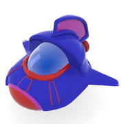 cartoon spacecraft 3d model