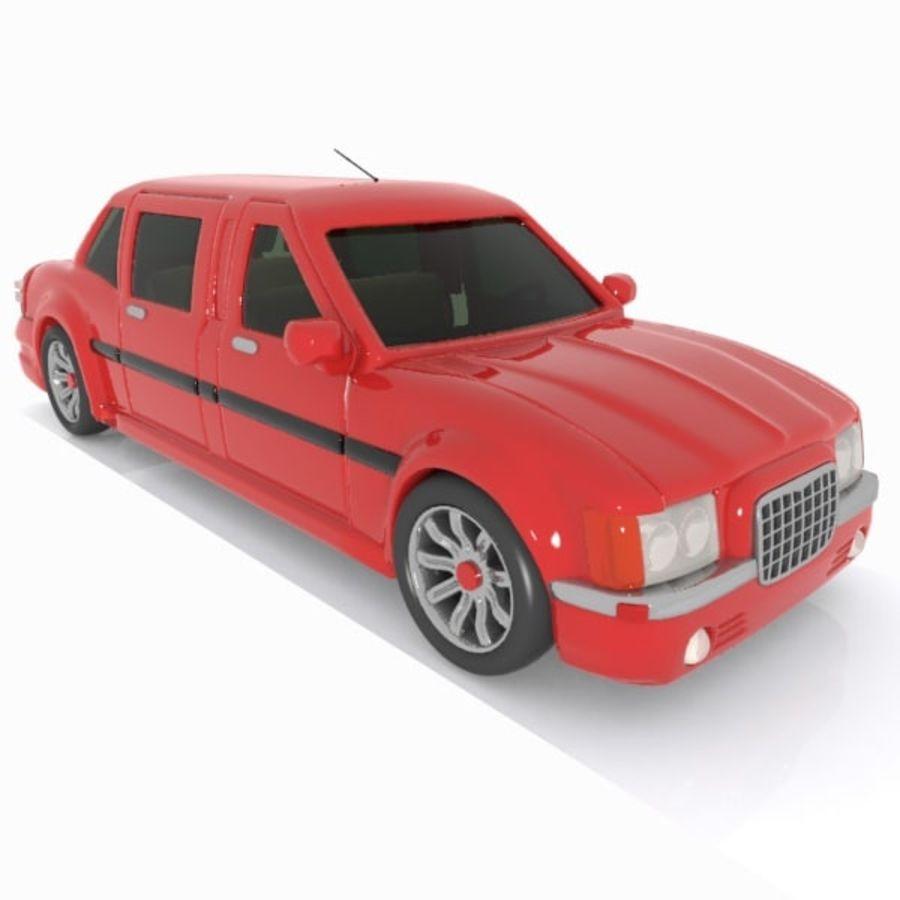 Toon Sedan Car royalty-free modelo 3d - Preview no. 6