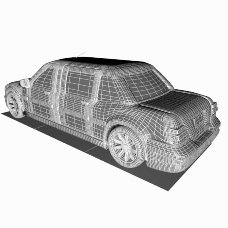 Toon Sedan Car royalty-free modelo 3d - Preview no. 12