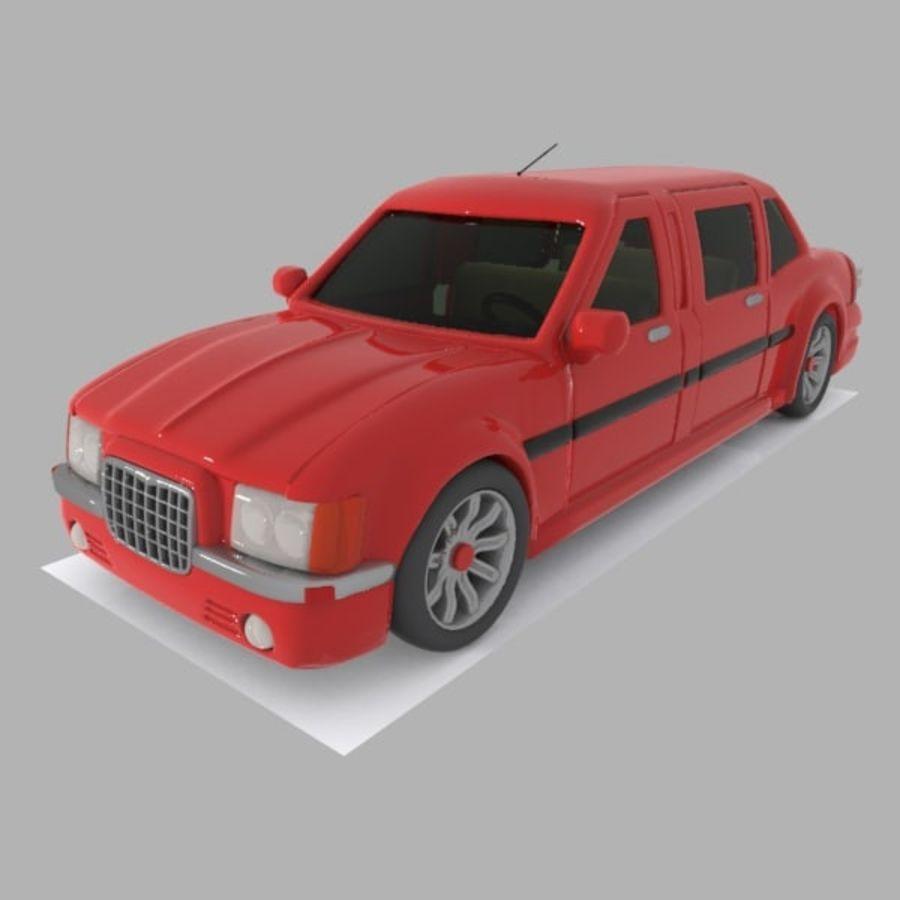 Toon Sedan Car royalty-free modelo 3d - Preview no. 2