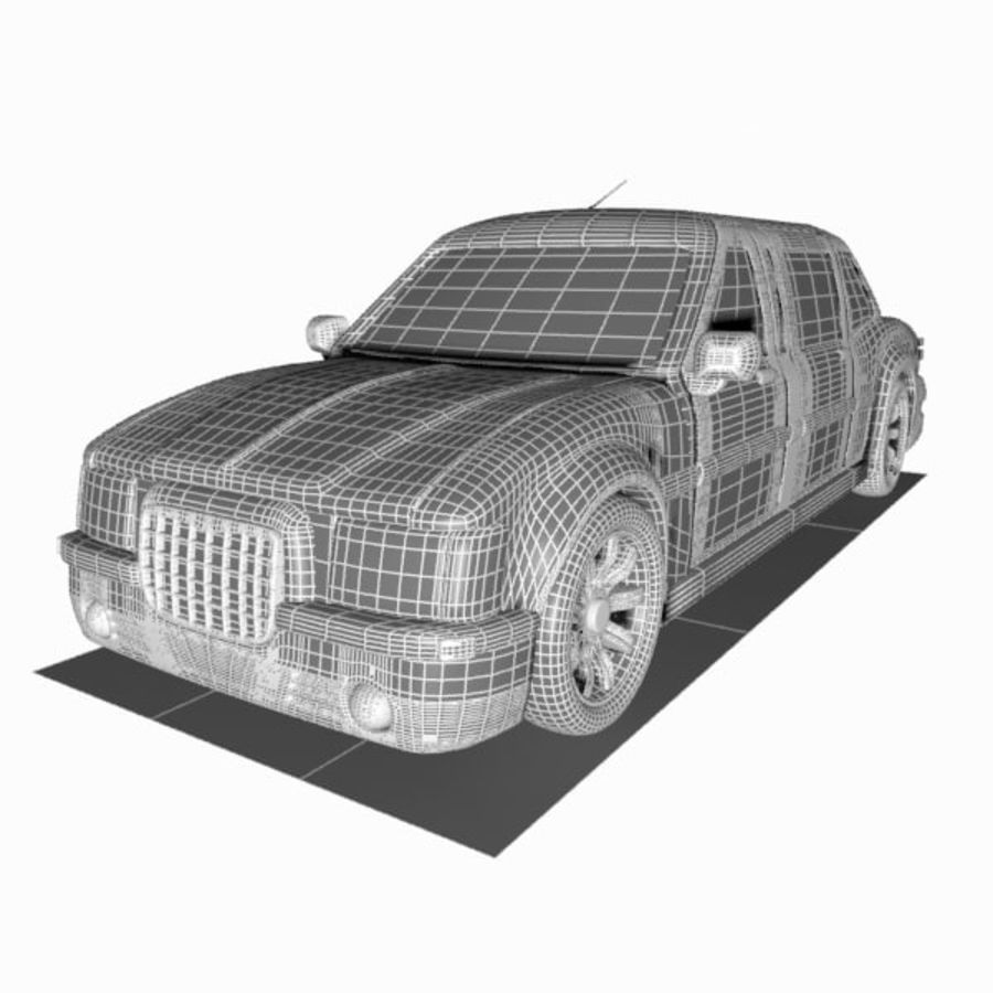 Toon Sedan Car royalty-free modelo 3d - Preview no. 10