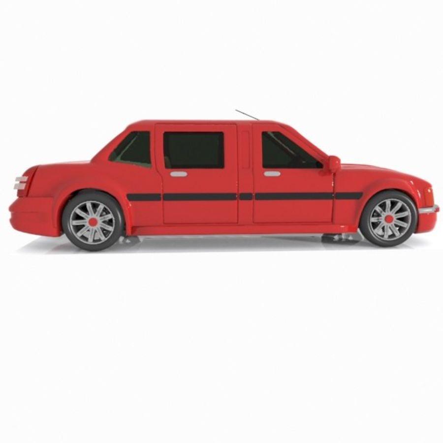 Toon Sedan Car royalty-free modelo 3d - Preview no. 5