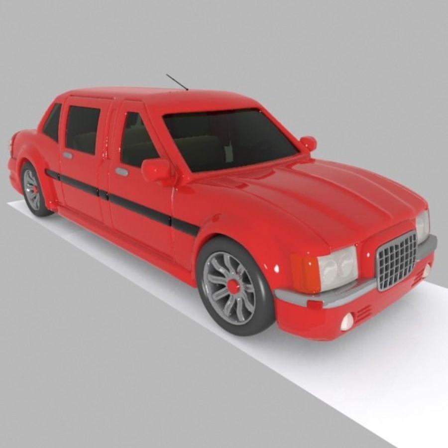 Toon Sedan Car royalty-free modelo 3d - Preview no. 7