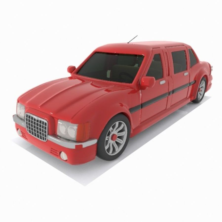 Toon Sedan Car royalty-free modelo 3d - Preview no. 1