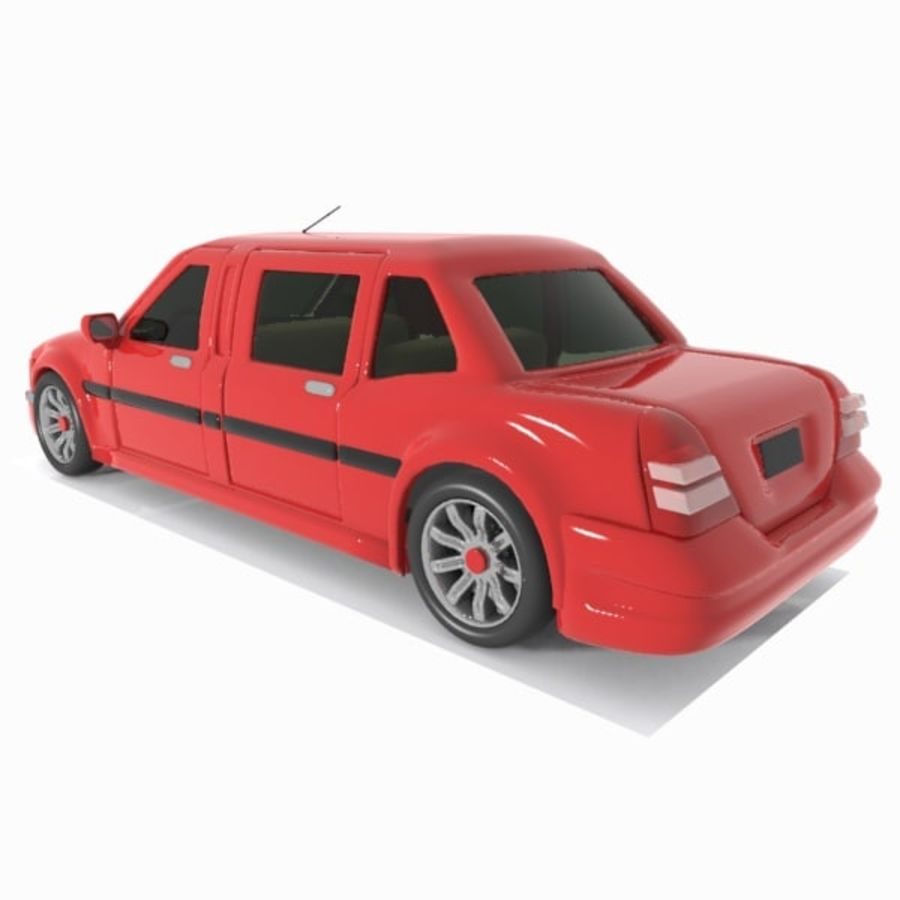 Toon Sedan Car royalty-free modelo 3d - Preview no. 9