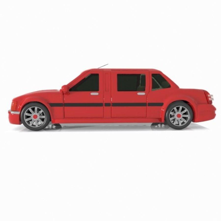 Toon Sedan Car royalty-free modelo 3d - Preview no. 8