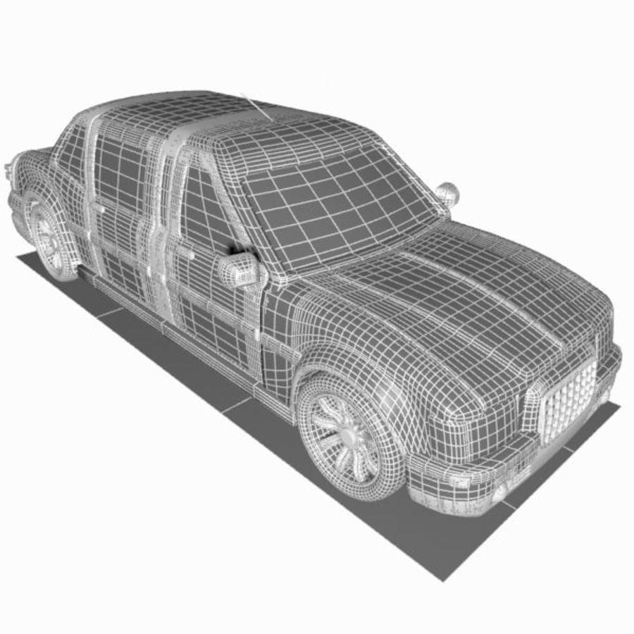 Toon Sedan Car royalty-free modelo 3d - Preview no. 13