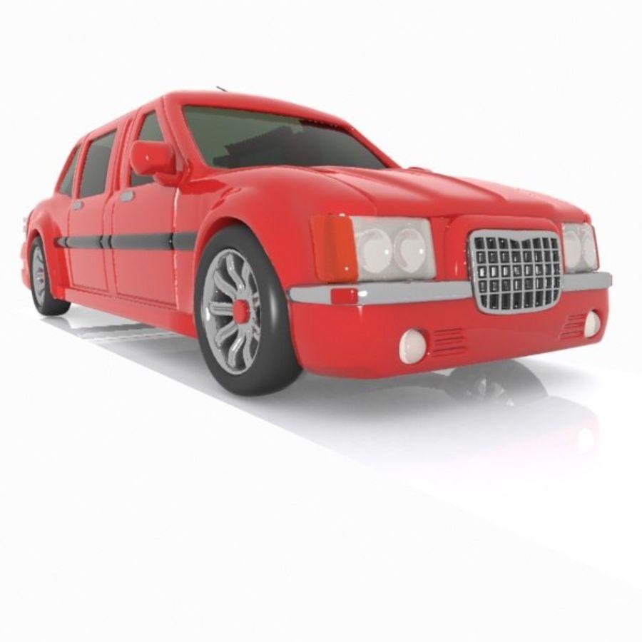 Toon Sedan Car royalty-free modelo 3d - Preview no. 4