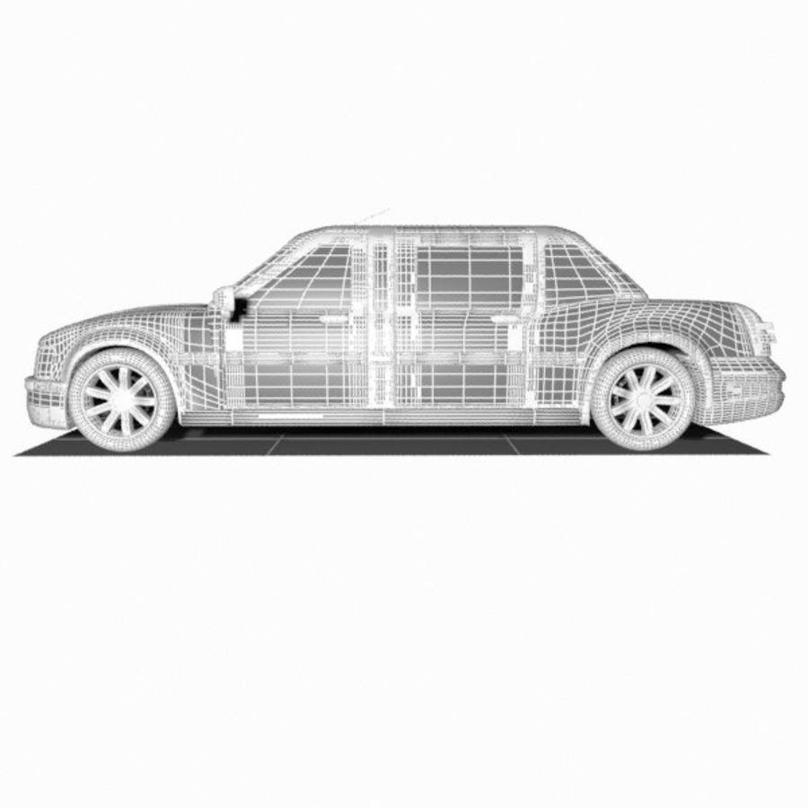 Toon Sedan Car royalty-free modelo 3d - Preview no. 11