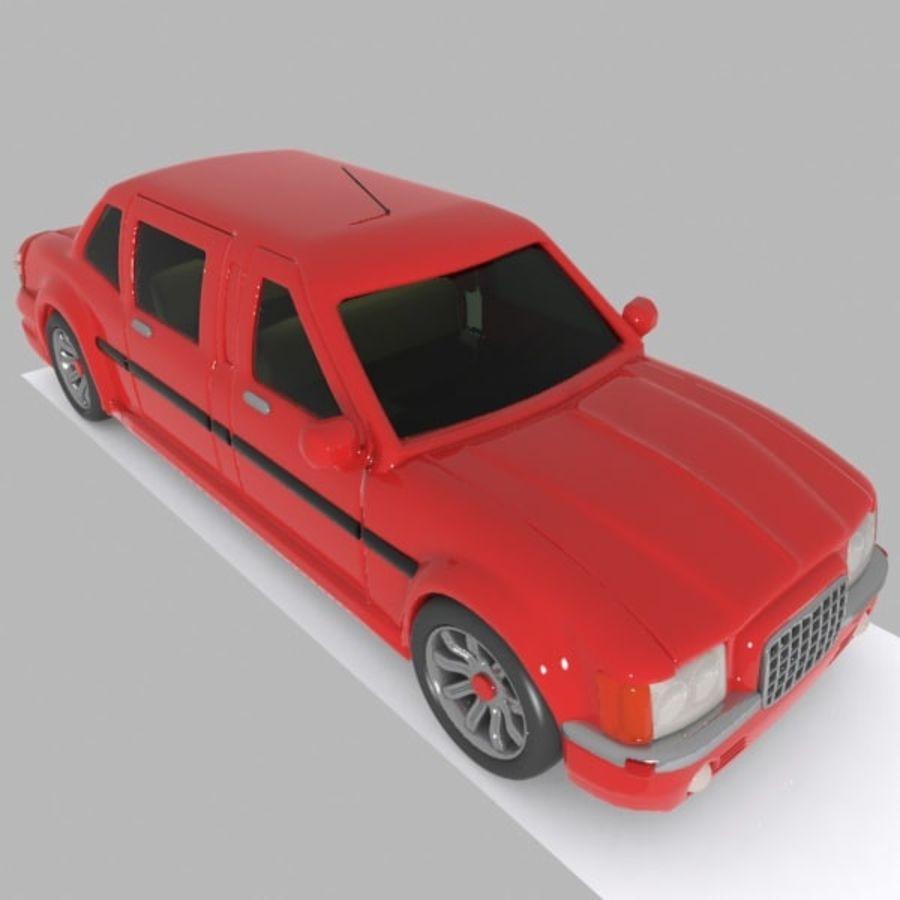 Toon Sedan Car royalty-free modelo 3d - Preview no. 3