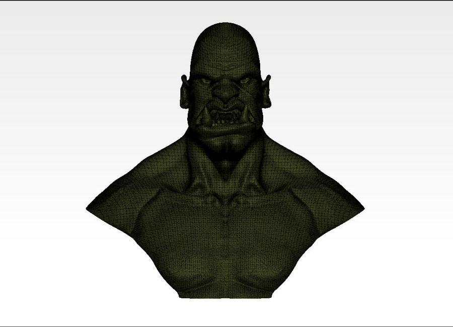 Ork Büste 3D-Druck royalty-free 3d model - Preview no. 5
