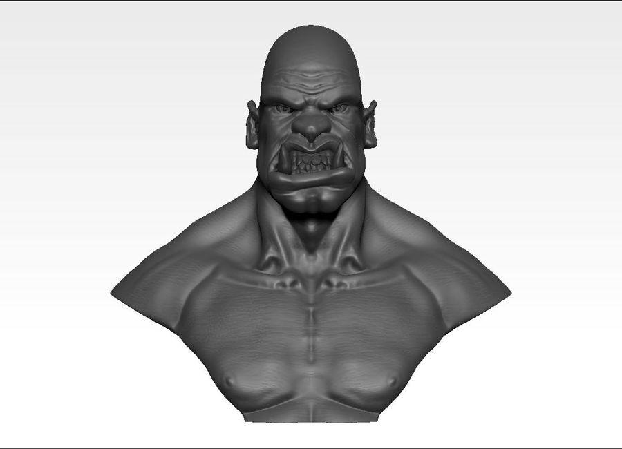Ork Büste 3D-Druck royalty-free 3d model - Preview no. 2