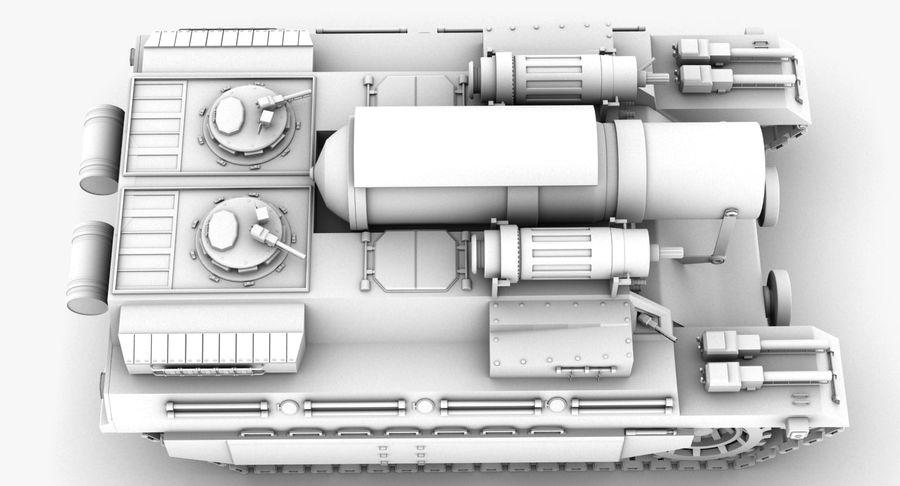 Koncepcja czołgu royalty-free 3d model - Preview no. 4