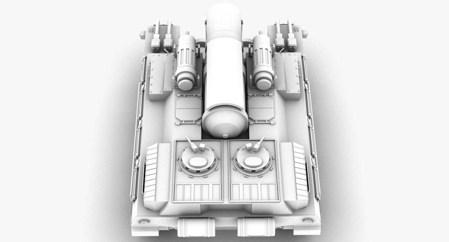 Koncepcja czołgu royalty-free 3d model - Preview no. 9