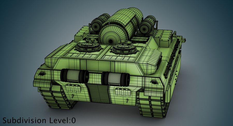 Koncepcja czołgu royalty-free 3d model - Preview no. 18