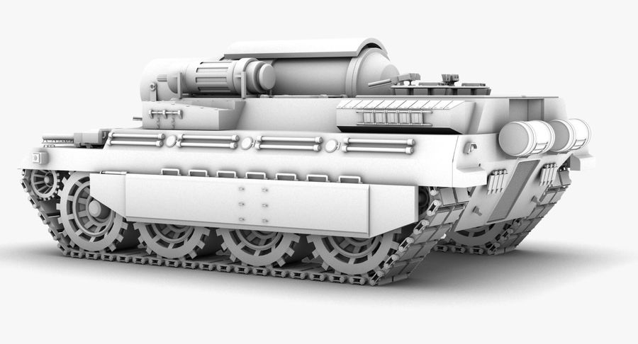 Koncepcja czołgu royalty-free 3d model - Preview no. 6