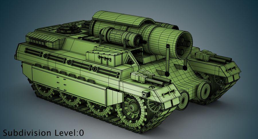 Koncepcja czołgu royalty-free 3d model - Preview no. 16