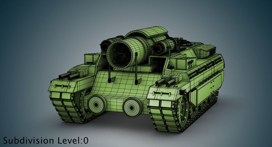 Koncepcja czołgu royalty-free 3d model - Preview no. 15