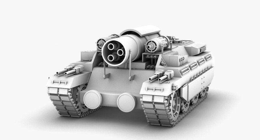 Koncepcja czołgu royalty-free 3d model - Preview no. 2