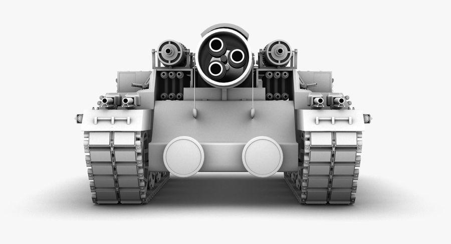 Koncepcja czołgu royalty-free 3d model - Preview no. 11