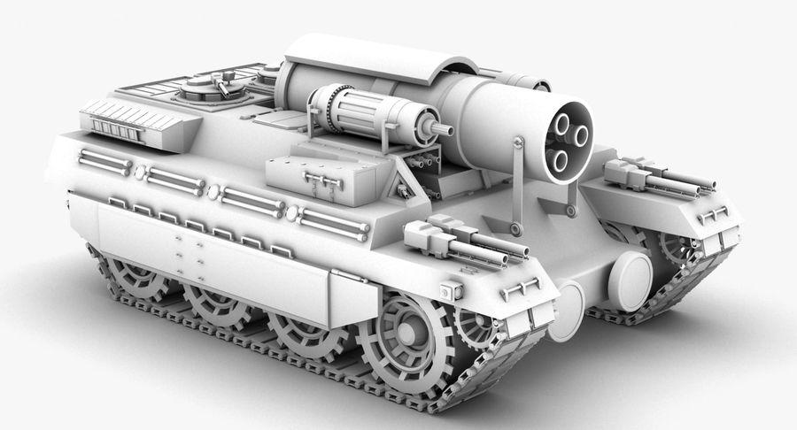 Koncepcja czołgu royalty-free 3d model - Preview no. 3