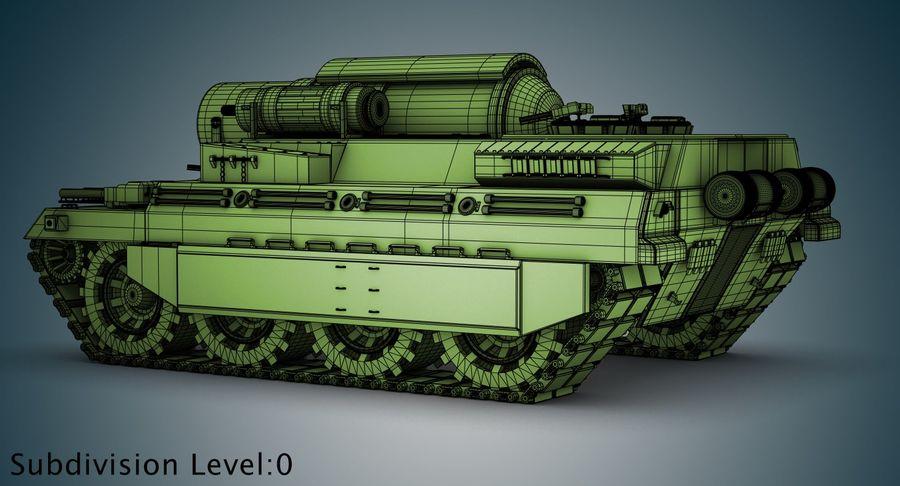 Koncepcja czołgu royalty-free 3d model - Preview no. 19