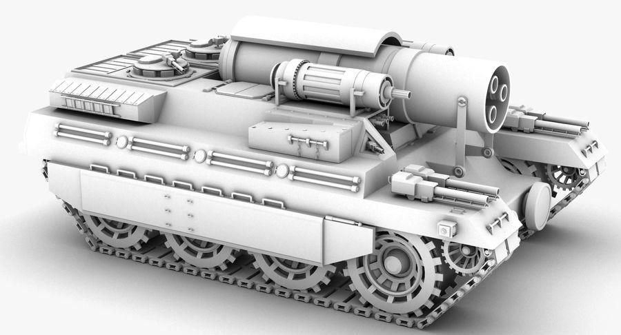 Koncepcja czołgu royalty-free 3d model - Preview no. 12