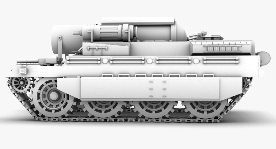 Koncepcja czołgu royalty-free 3d model - Preview no. 10